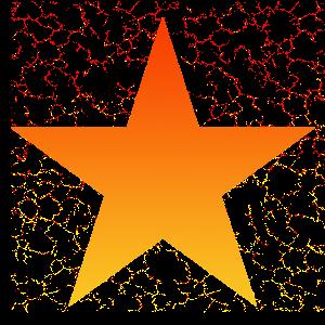 Stern star orange gelb Vintage