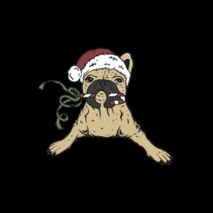 Französische Bulldogge Weihnachts T-shirt