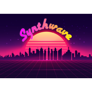 Synthwave 80s Mask