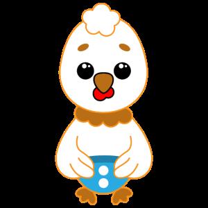 Süßes Karikatur Tier Baby Huhn