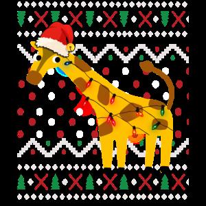 Giraffe Ugly Christmas