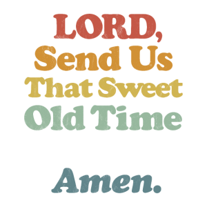 Christian Revival Zitat Vintage Retro gestreiften Text