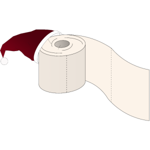 Weihnachten Klopapier für 2020 Corona Hamsterkauf