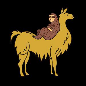 Alpaka Faultier Faultiere Geschenkidee Lama Urlaub