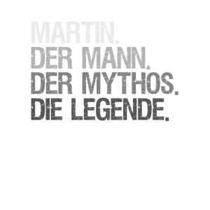 Mann Mythos Legende Martin