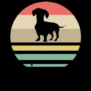 Dackel Dachshund Hund Teckel Retro Geschenk