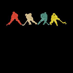 Eishockey Spieler - Vintage Retro Grunge