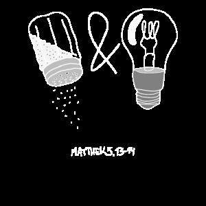 Jesus Bergpredigt Matthäus 5 13-14