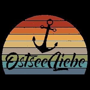 Ostseeliebe Anker im Retrocolor Design Usedlook