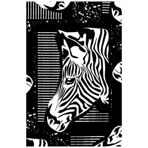 Zebra Muster - Zebrastreifen - Illustration Zebras