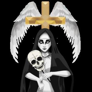 Himmlisch Kreuz Satanisch Nonne Dämon