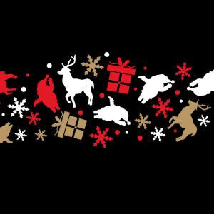 Geschenke Reh Weihnachtsmann