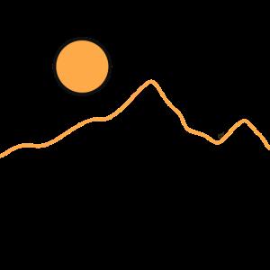 Berg und Sonne