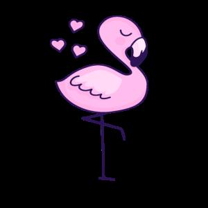 Flamingo mit Herz Kinder Geschenk Idee