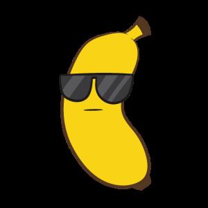 Sommer Banane mit Sonnenbrille Kinder Obst