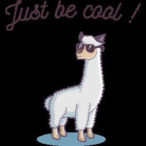 Sei bloss locker! Cooles Lama