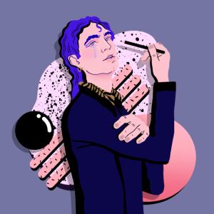 Léon The Singer Illustration