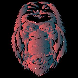 gorilla 1 hautfarbe blaugruen farbverlauf
