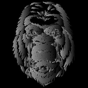 gorilla 1 schwarz grau farbverlauf
