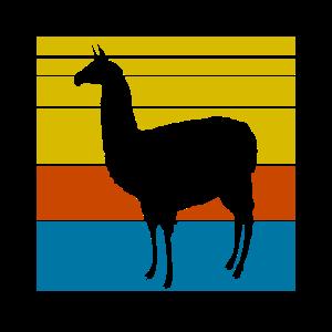 Alpaka Vintage Lama Retro