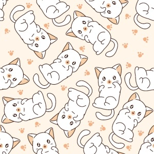 Niedliches Katzenmuster