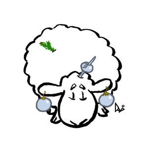 Christmas Tree Sheep