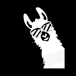 Lama Alpaca Geschenk Sonnenbrille Used Look