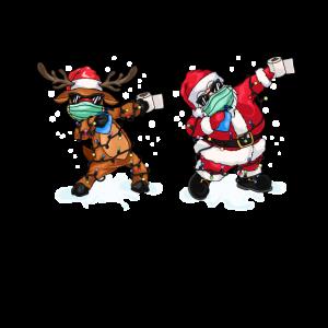 Dabbing Weihnachtsmann Dabbing Rentier Maske