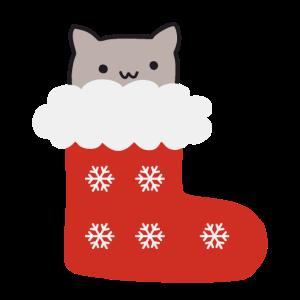 Fröhliche Catmas - Süßes Kätzchen im Stiefel