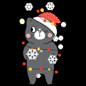 Geschmückte Winter Katze