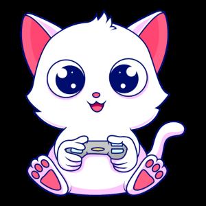 Niedliches Gamer Kätzchen Katze Gaming Headset