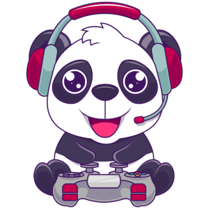 Süßer Panda Gaming Bär mit Gaming Süßes Geschenk