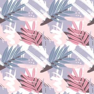 Abstraktes buntes Palmblatt-Muster