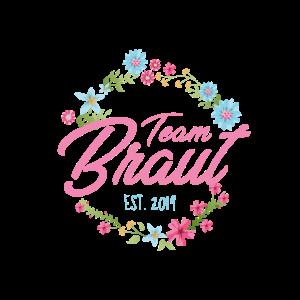 Team Braut T-Shirt - Blumenkranz 1 - JGA