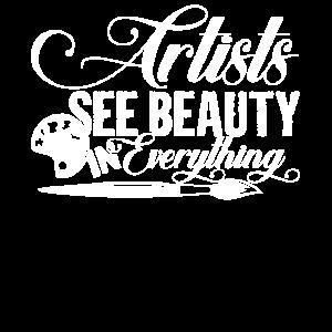 Künstler Künstler sehen Schönheit in allem