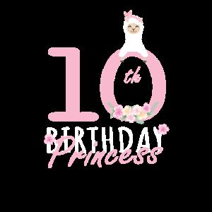 10. Geburtstag Prinzessin Lama Girl Llamazing 10