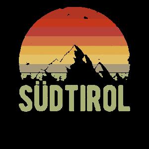 Retro Südtirol Alpen Berge Wandern Berg Wanderer