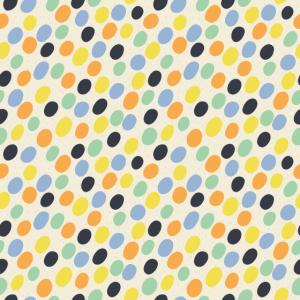 Muster aus kleinen bunten Flecken auf hellgelb