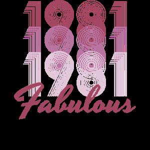 1981 Geburtstag 40 Jahre alt Vintage Fabulous