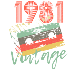 1981 Retro Vintage Kassetten 40. Geburtstags Shirt
