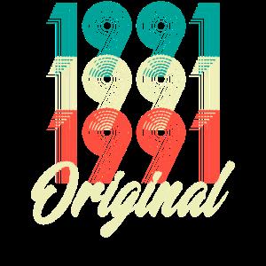 1991 Original Retro Stil 30. Geburtstags Shirt