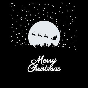 Merry Christmas Rentiere Weihnachtsmann