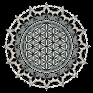 Blume des Lebens, Yoga, Heilige Geometrie, vintage