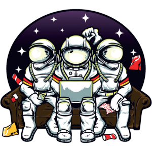 Three astronauts