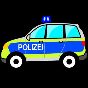 Polizeiauto, Polizei, deutsche Polizei, Blaulicht