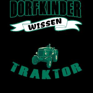 Dorfkinder wissen wie man Traktor fährt - schwarz