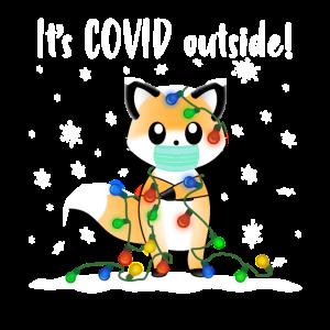 It's COVID Outside Ein Süßer Fuchs Mit Einer
