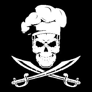 Cooler Totenkopf Koch Motiv für einen Koch