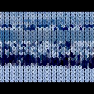 Blau gefärbtes Strickmuster