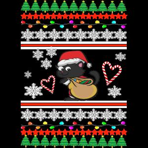 Weichnachten Katze Ugly Christmas sweater Geschenk